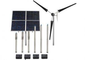 Solar powered well pump set