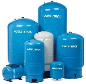 Flow-Thru water well pressure tank
